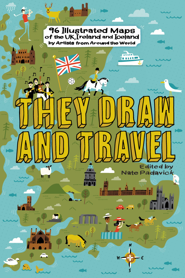 Map Of Ireland Book.A Book Of 96 Illustrated Maps Of The Uk And Iceland They Draw Travel