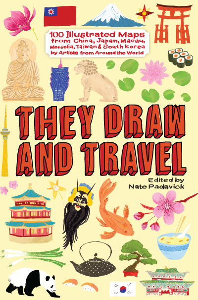 Shop they draw travel they draw and travel 100 illustrated maps from china japan macau mongolia taiwan south korea edited by nate padavick gumiabroncs Choice Image