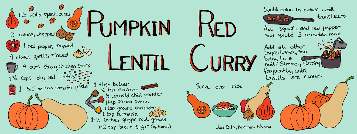 Tdac pumpkin lentil curry