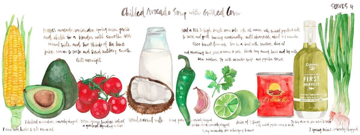 Chilled avocado soup 01