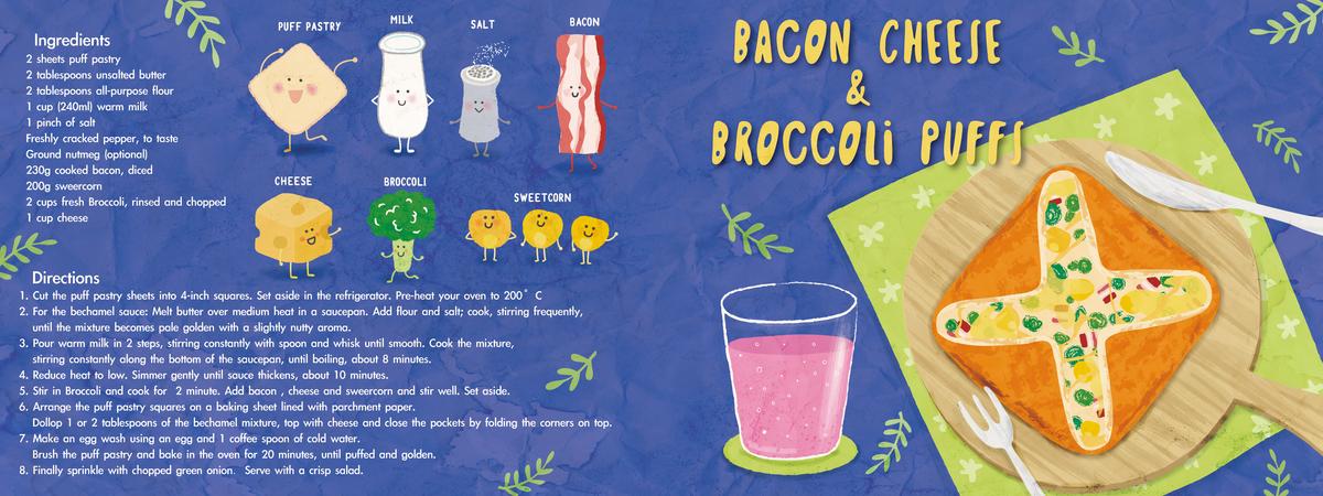 Bacon cheese   broccoli puffs