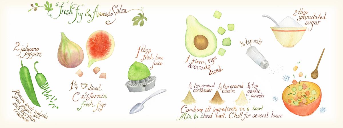 Fresh fig and avocado salsa