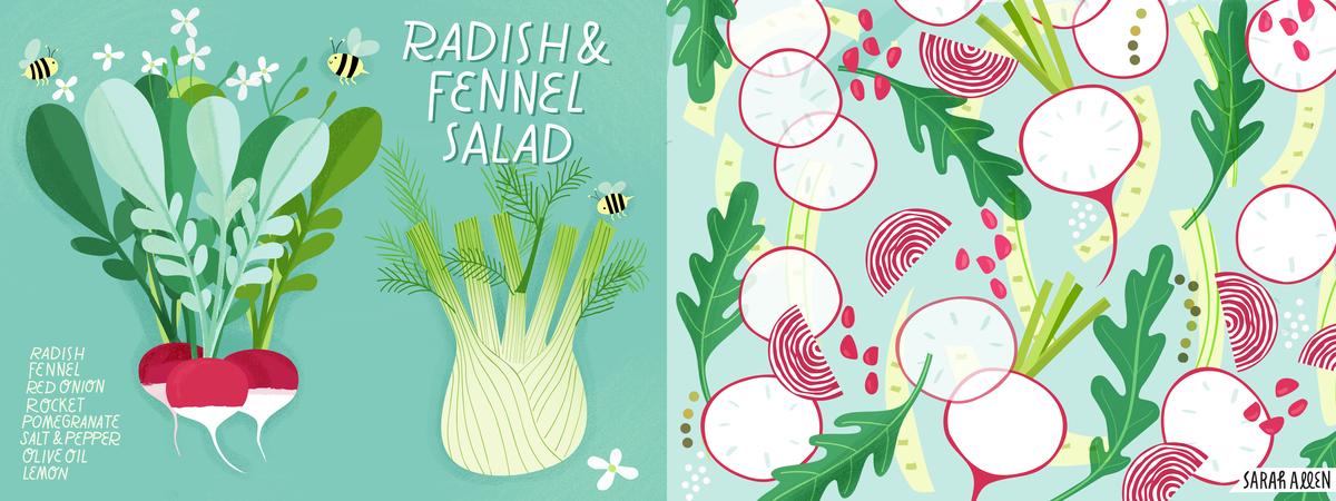Sarah allen radish summer salad