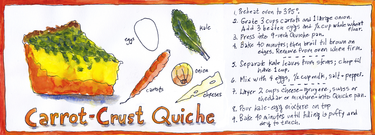 Carrot crust quiche kmcd