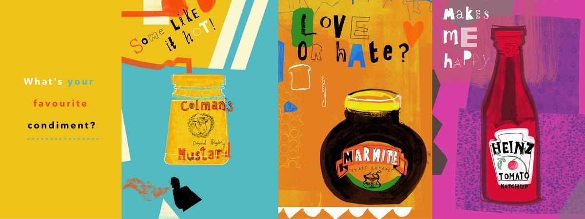 Condiment banner