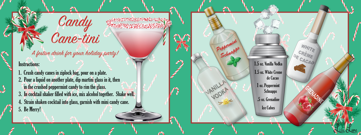 Lisa lane candy cane martini hr
