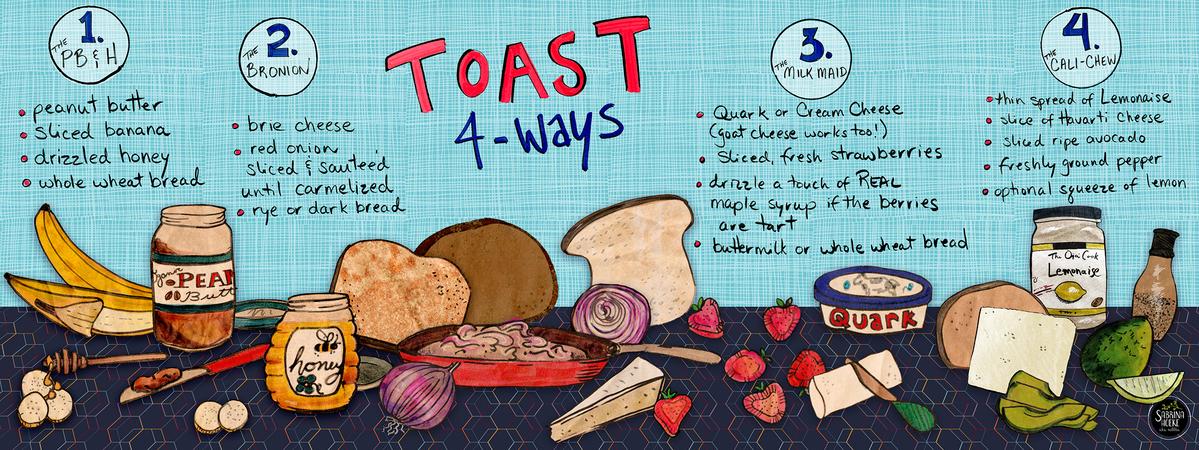 Toast 4 ways