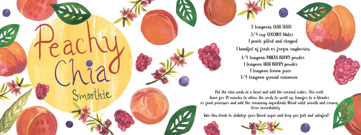 Peachy chia smoothie