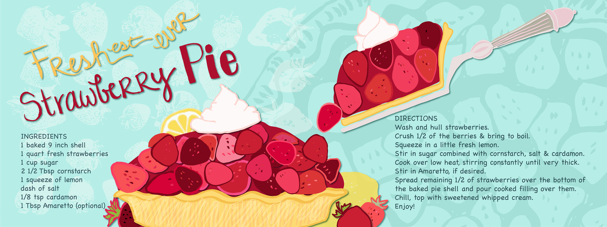 Freshest ever strawberry pie 01