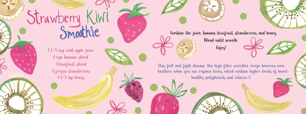 Strawberry kiwi smoothie 2