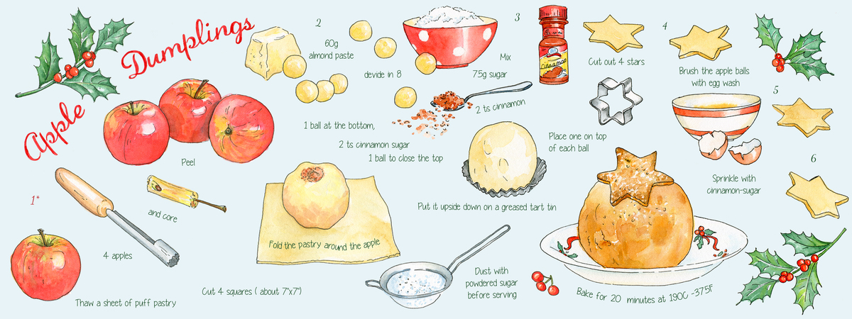 Apple dumplings suzanne de nies