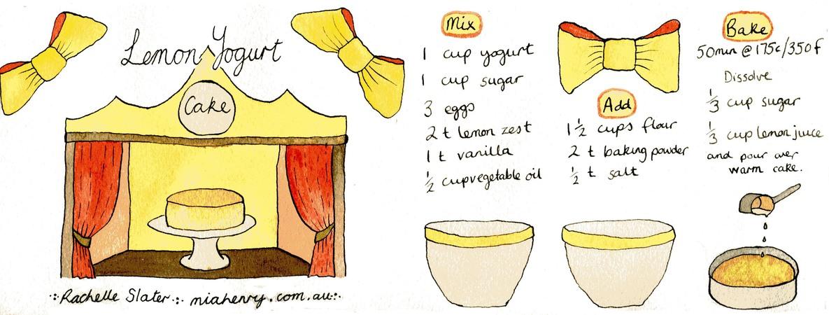 Lemon Yogurt Cake by Rachelle Slater - They Draw & Cook