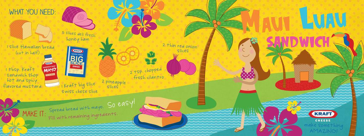 Maui luau sandwich