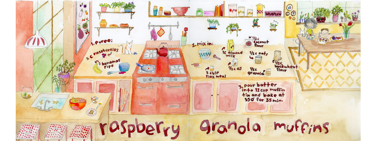 Raspberry granola muffin tdac