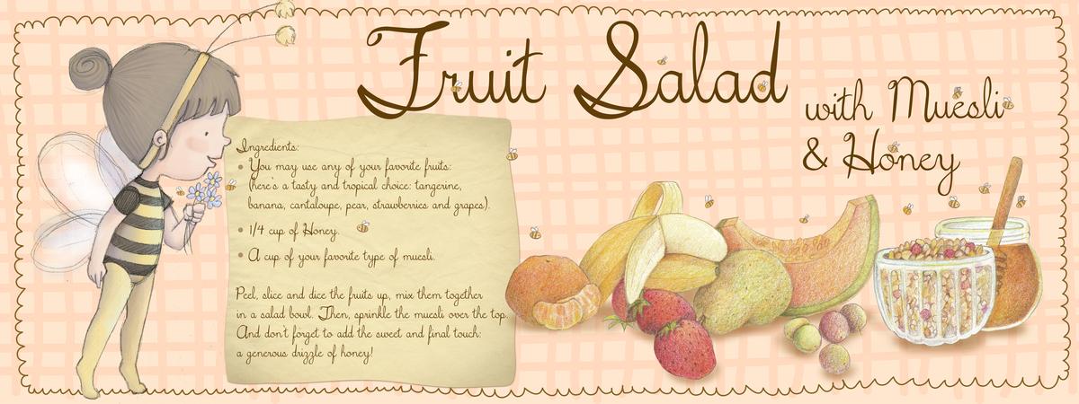 Fruitsaladwithmuesliandhoney