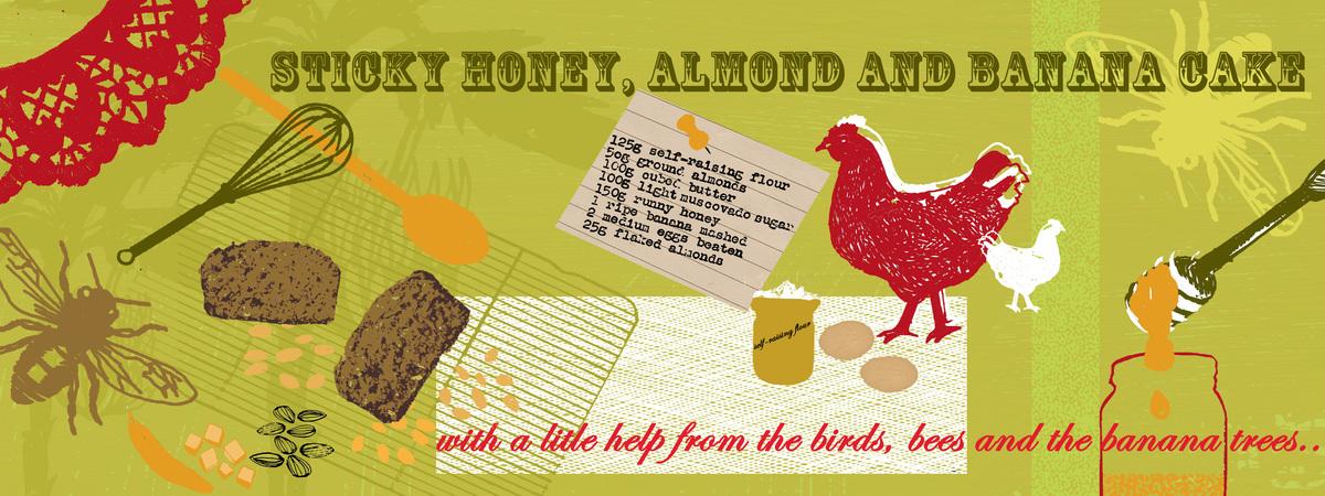 Ls honey almond and banana cake