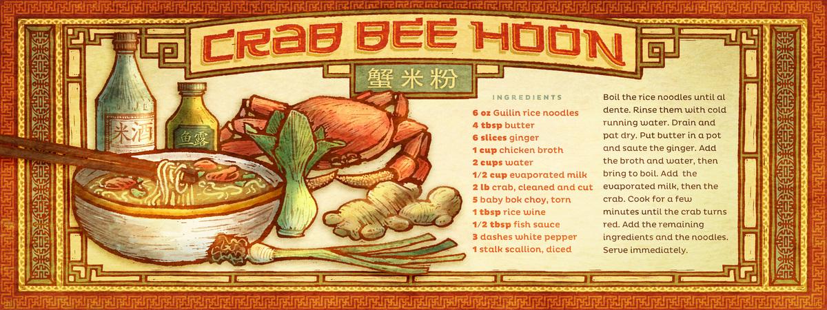 Ingvard   crab bee hoon