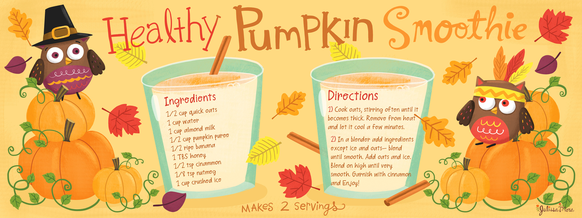 Julissa healthy pumpkin smoothie