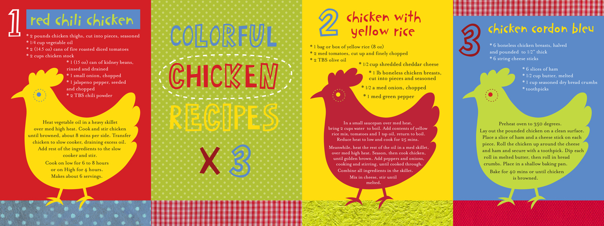 Nina seven colorful chicken recipes x 3