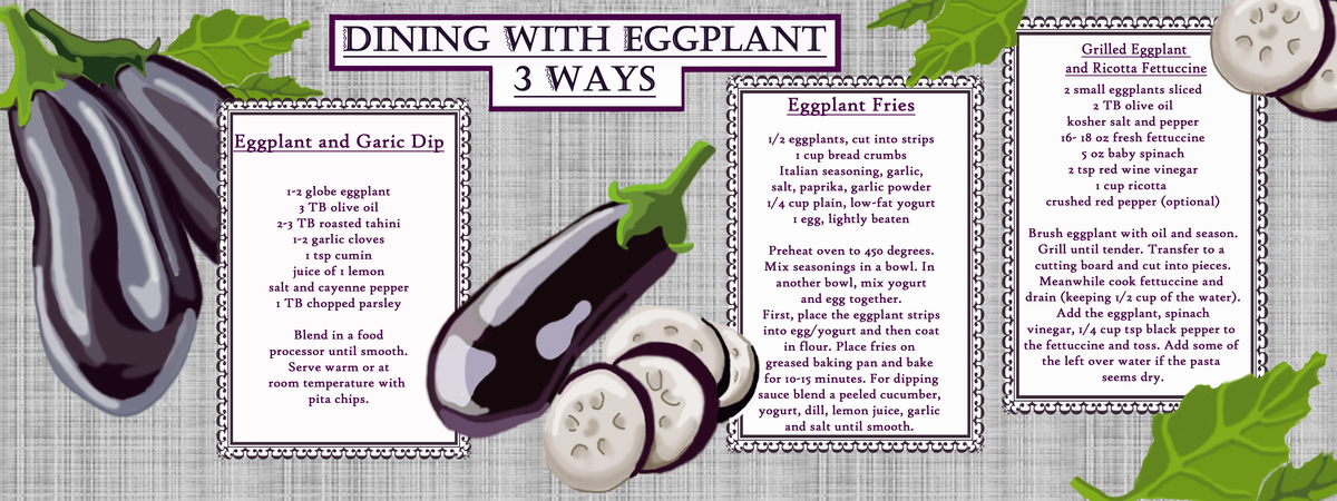 Dining with eggplant