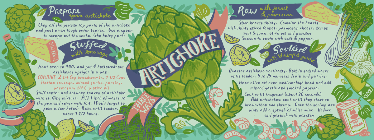Artichoke three ways