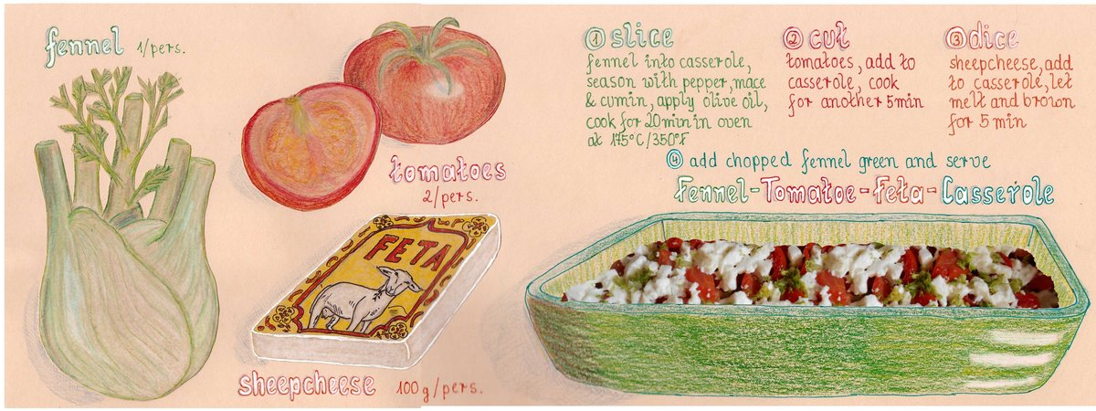 Fennel tomatoe feta casserole