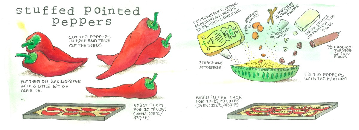 Stuffed pointed peppers