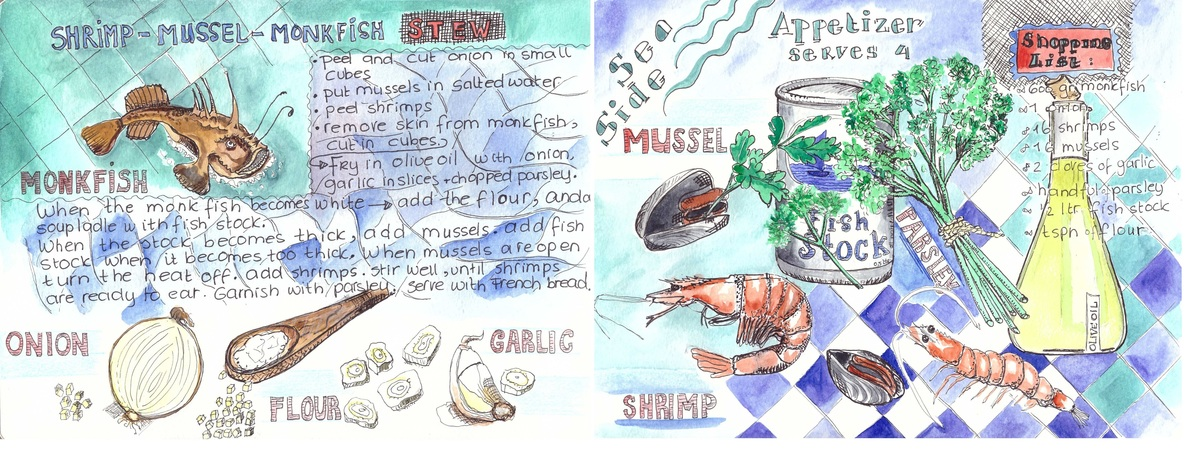 Shrimpmusselmonkfish