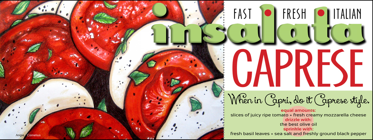 Tdac insalata caprese by angie cornelius of lonesome road studio