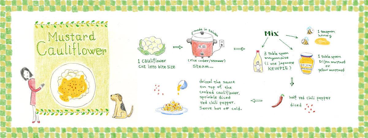 Mustard cauliflower by anais lee