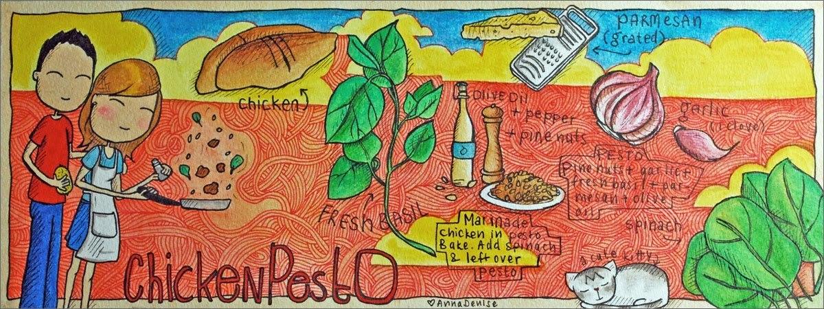 Pesto chicken by anna denise van der reijden