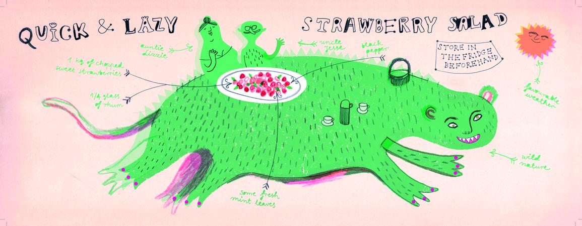 Oklejak strawberry 300