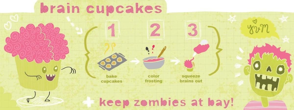 Brain cupcakes by ariel duncan