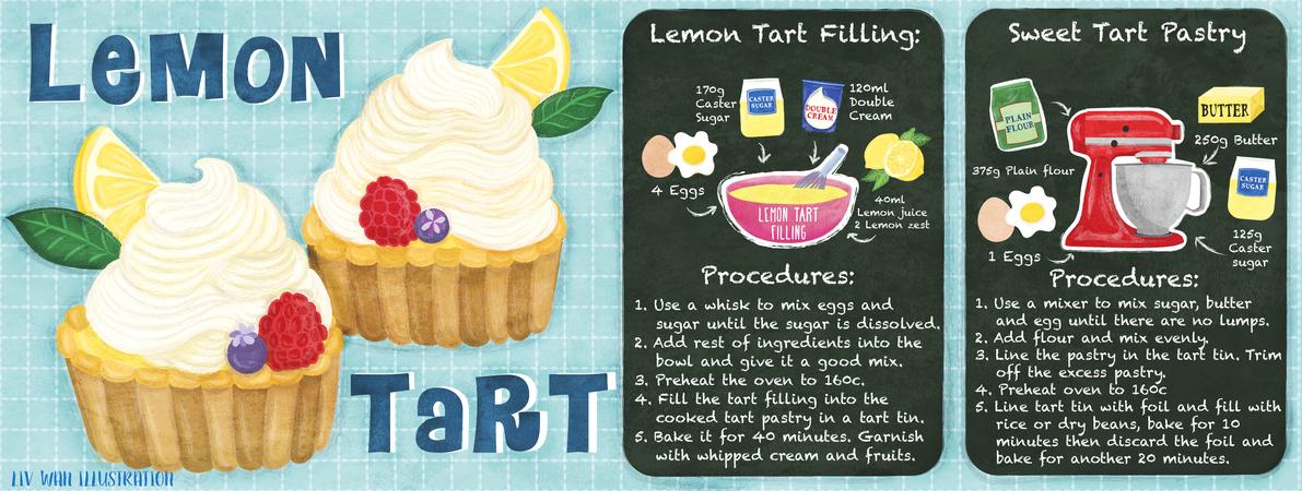Tdac texture lemon tart illustration
