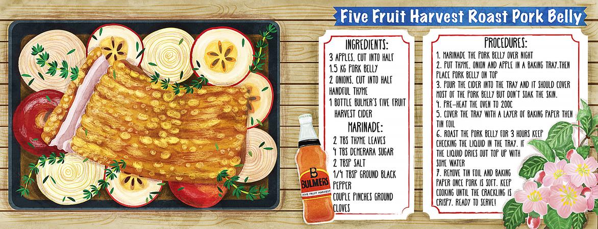 Tdac five fruit harvest roast pork belly