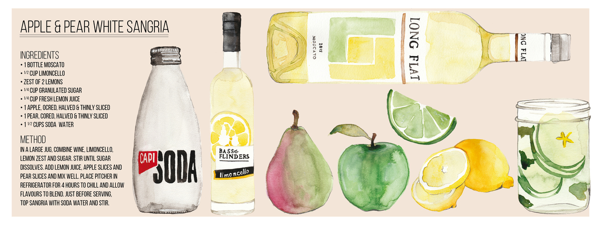 Apple   pear white sangria 01