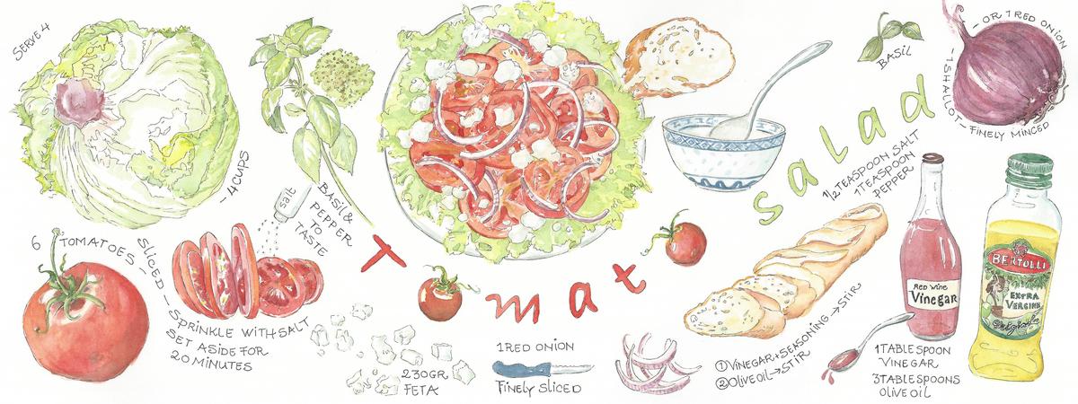 Tomato salad suzanne de nies