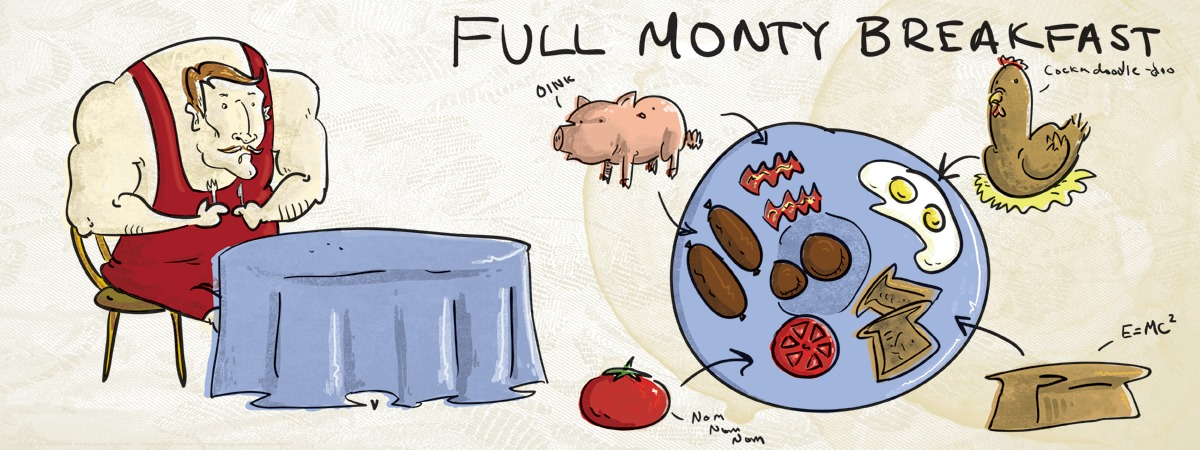 Full monty breakfast by christopher race