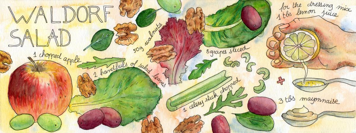 Wardolf salad