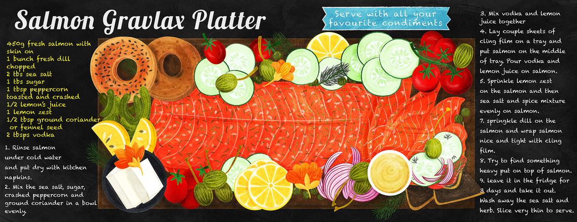 Tdac liv wan salmon gravlax