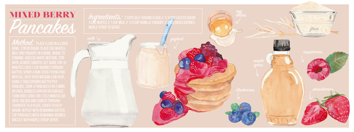 Mixed berry pancakes 01