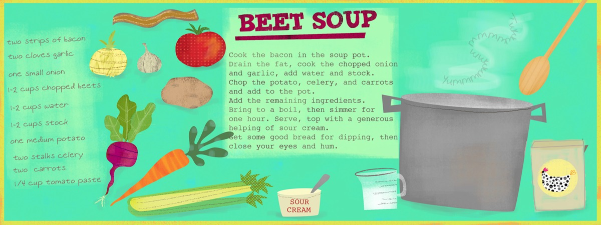 Beet soup by amy schimler
