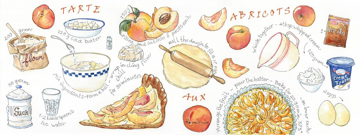 Tarte aux abricots suzanne de nies