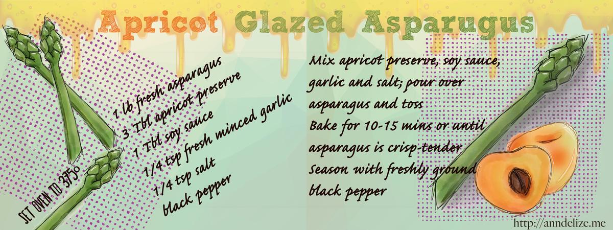 Apricot glazed asparagus