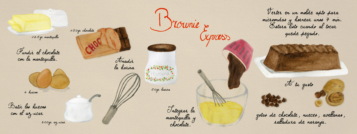 Brownie para they draw and cook
