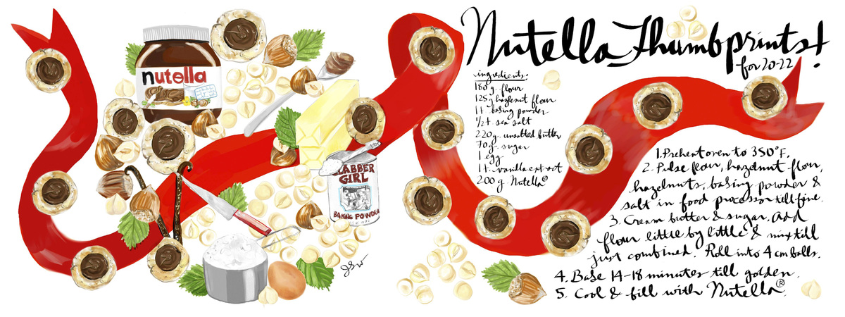 Nutella thumbprints jessie kanelos weiner