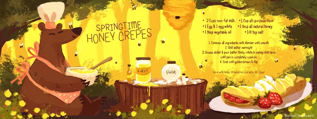 Honey crepes recipe