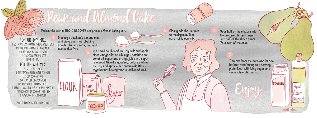 Pearandalmondcake carrollkolasa