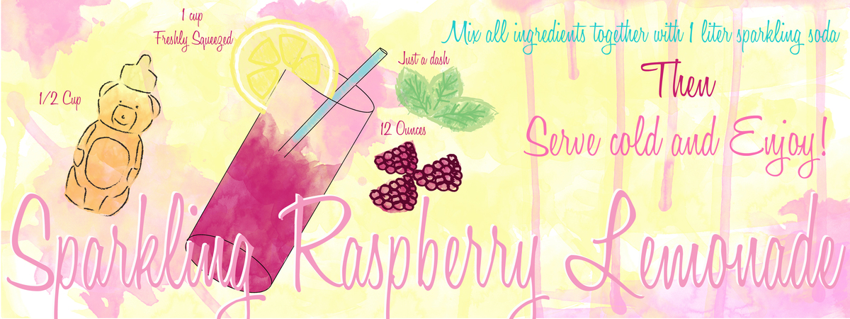 Sparkling raspberry lemonade 01