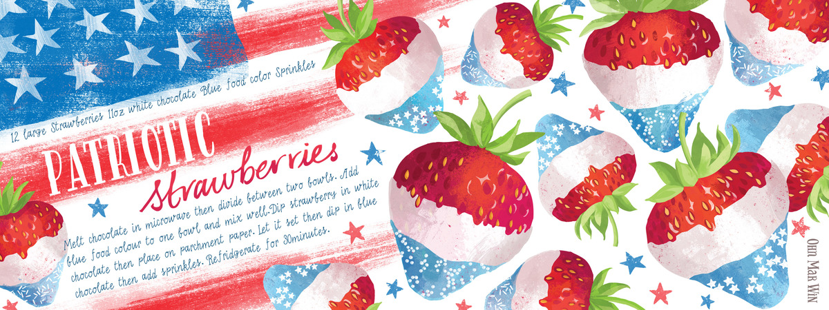 Patrioticstrawberries ohnmarwin